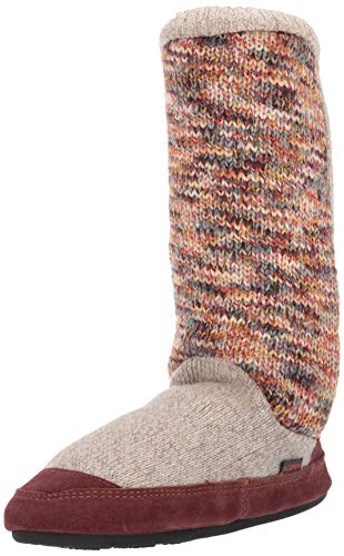 Acorn womens Slouch Boot Slipper, Sunset Cable Knit, 6-May US
