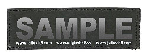 Julius-K9 Original Custom Patch Hook and Loop Fastener Large Reflective Silver