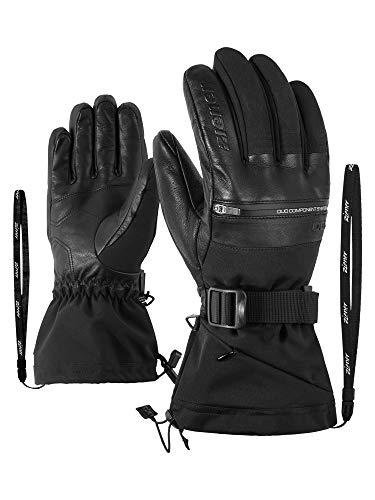 Ziener Herren GALLINUS AS PR DCS Ski-Handschuhe/Wintersport | Wasserdicht, Atmungsaktiv, Sehr Warm, Black, 9