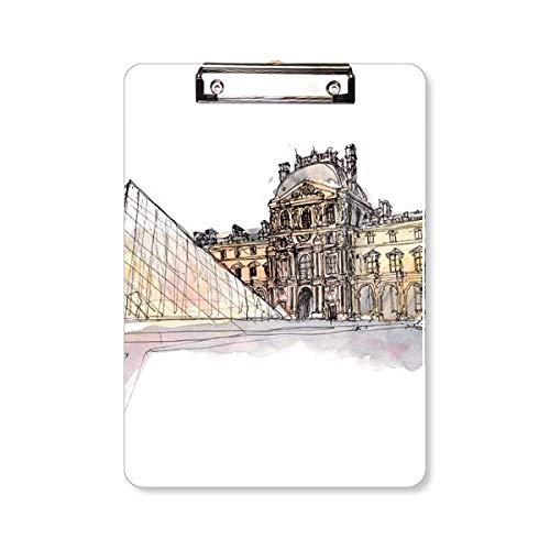 Louvre Museum in Parijs Frankrijk Clipboard map schrijfblok achterplaat A4