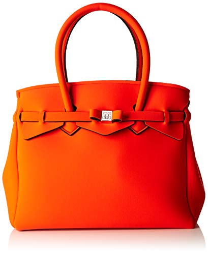 Save My Bag Damen Miss Plus schultertasche, Orange (BONITAS BOT), 34x29x18 cm