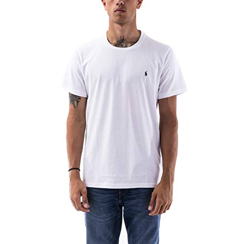 Polo Ralph Lauren   Camiseta de Hombre de algodón Blanco   RLU_714706745004 - XXL