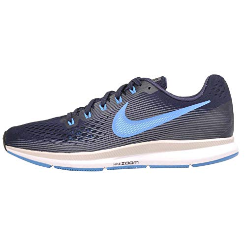 Nike Air Zoom Pegasus 34 Mens Running Trainers 880555 Sneakers Shoes (UK 9.5 US 10.5 EU 44.5, Obsidian Blue Hero Gunsmoke 411)