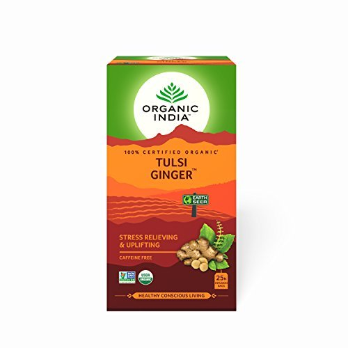Organic India Infusion Tea Bags - Tulsi Ginger, 25 Bags