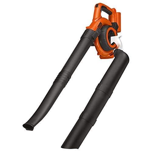 BLACK+DECKER GWC3600LB-XJ Aspirateur-Souffleur sans fil - Sans batterie - Volume d'aspiration : 3 m3/min - Vitesse de soufflerie : 218 km/h - Capacité : 17 L, 36V, Noir, Jaune,