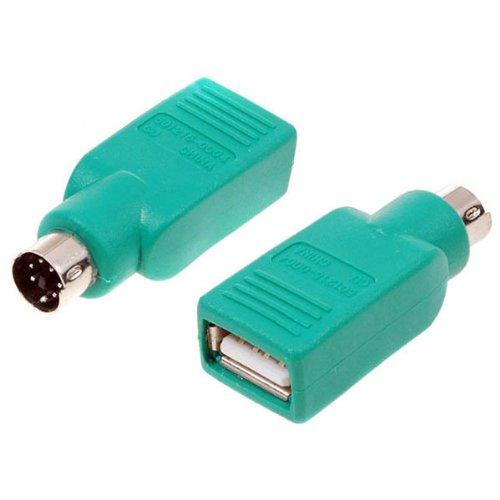 Conector adaptador USB hembra a S-Video PS/2 PS2 SVHS macho convertidor para PC .