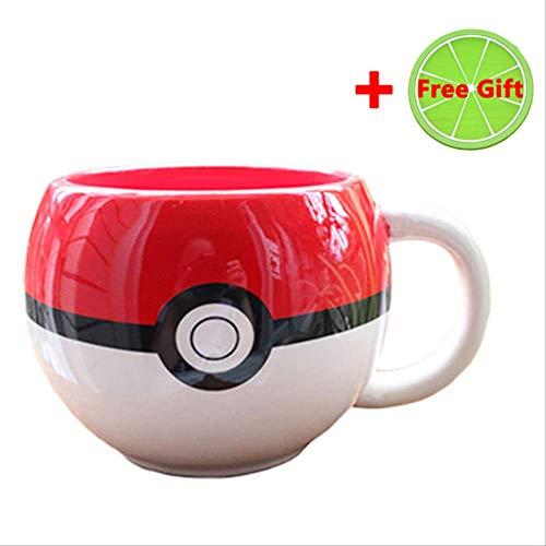 Cartoon Pokemon Pokeball Becher Pikachu Handgriff Keramik Wasser Milch Tee Kaffeetasse Tasse Für Kinder Überraschungsgeschenke Pikachu-Kaffeetasse