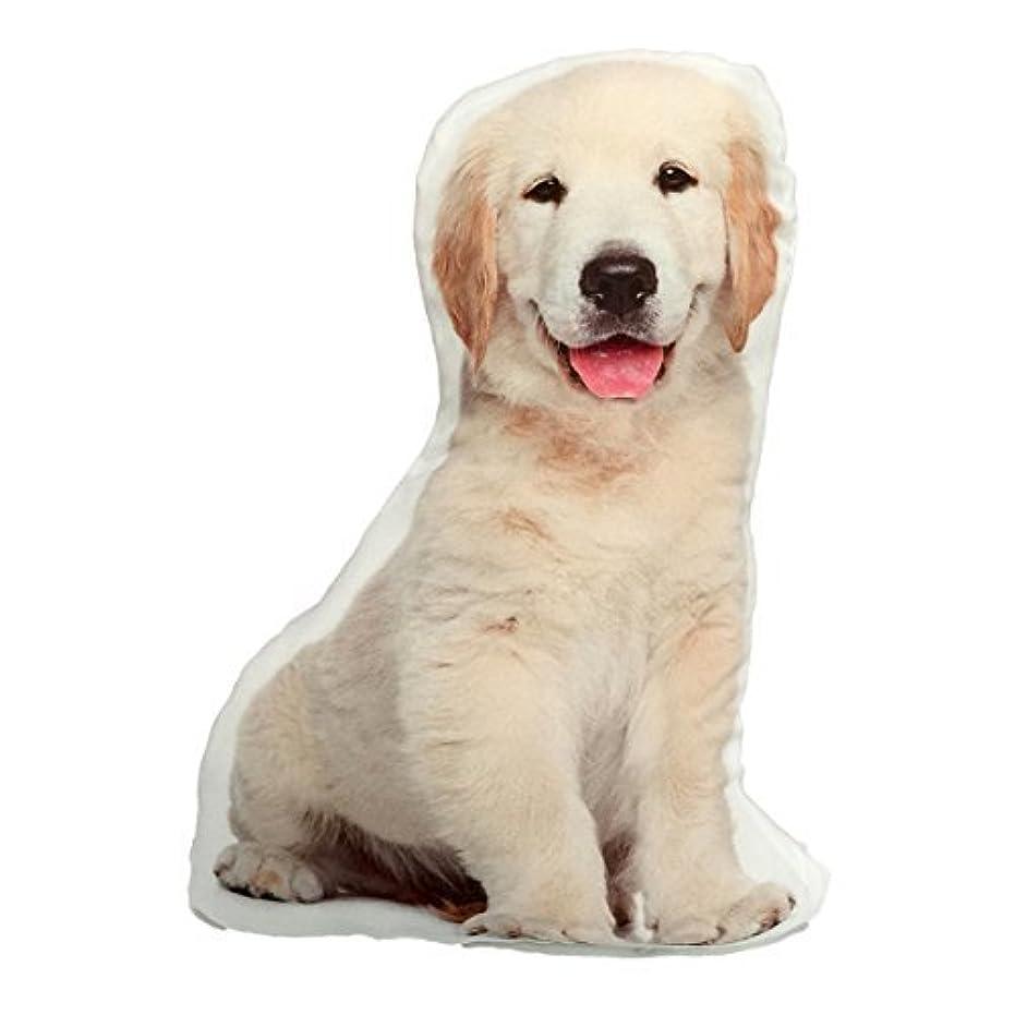 征服する略奪国旗Yellow Lab Labrador Retriever Puppy Stuffed Dog Throw Pillow Decor Gift [並行輸入品]