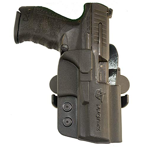 "COMP-TAC.COM International Holster Walther - PPQ M1, M2 4"" - Right - Black (Belt, Paddle, Drop Offset)"