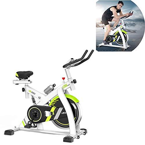 TXDWYF Bicleta de Gimnasio, Ejercicio Fitness, Bicicleta Estática, Bicicleta Estática con Sensores de Pulso de Mano, Transmisión por Correa, Volante de inercia 8kg, Monitor LCD, Adultos Unisex,Blanco