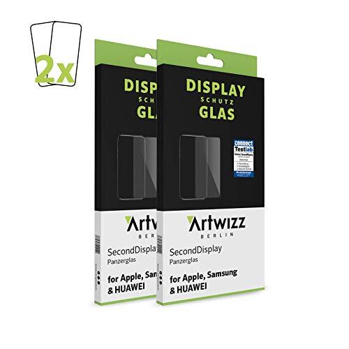 Artwizz SecondBildschirm (2er Pack) Schutzglas geeignet für iPhone 12 Mini (5.4') - Bildschirmschutz aus Panzerglas, 9H Schutzgrad, Hüllenfre&lich