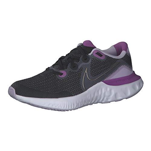 NIKE CT1430 008 Renew Run (GS) Zapatillas de Running de Niña Gris/Morado, EU 39