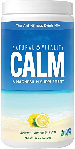 Natural Vitality Calm The Anti-Stress Drink Mix, Magnesium Supplement Powder, Lemon,16 Ounce