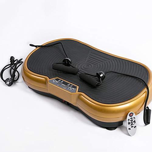 WMNRNYD Placa Profesional de Masaje de vibración, con Mando a Distancia Bluetooth Music Plataforma vibratoria para el hogar de Fitness y pérdida de Peso máximo de 330lbs Usuario Peso,Oro