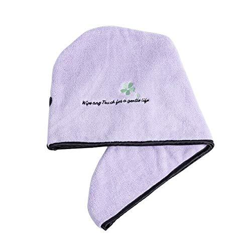 Magic Microfiber Hair Secador de Secado rápido Toalla de Pelo Sombrero de Pelo de Secado rápido Toalla de baño Toalla de baño Gorro de Abrigo Turbante de Gorro rápido - Morado