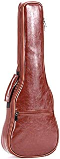 TOOGOO 23Inch Small Guitar Bag PU Leather Waterproof Guitar Ukulele Uke Bag Case Backpack Guitar Parts & Accessories Brown