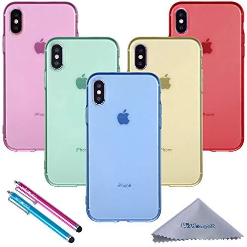 Wisdompro, Custodia in TPU, confezione da 5 per iPhone Xs, custodia per iPhone X, per iPhone X 10
