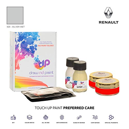 DrawndPaint for/Renault R19 / Silver Met - 620 / Touch-UP Sistema DE Pintura Coincidencia EXACTA/Preferred Care