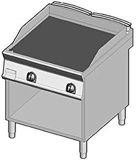 D.O.M.–Fry Top à gaz plaque lisse 80x 70coffre ouvert