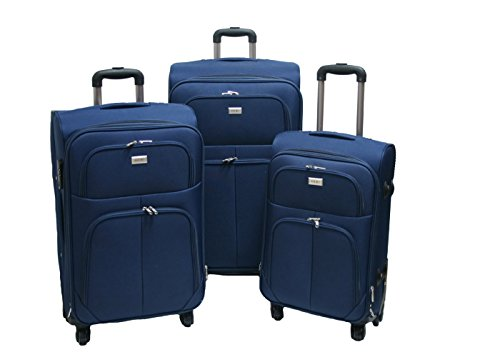 G.Kaos tris valigia trolley semirigide set bagagli in tessuto super leggeri 4 ruote piroettanti trolley piccolo adatto per cabina