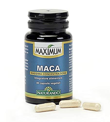 Naturando - Maximum Maca - 40 Cápsulas Vegetales Complemento Alimenticio Contra La Fatiga Física Y Mental