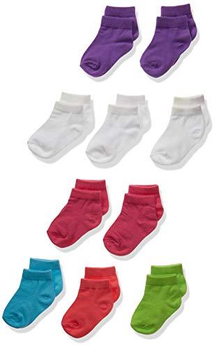 Hanes Girls' Toddler Ankle Socks 10-Pack, Assorted 4/12-24 Mos