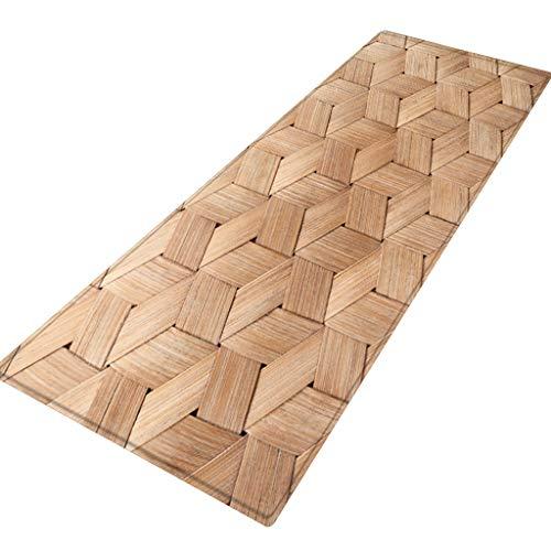Skxinn 40X120 cm Badematte, Badteppich, Badvorleger rutschhemmend Weicher, Teppich Flur Fußmatte Anti - Rutsch Teppich absorbieren Wasser Küchenmatte(G,40X120 cm)