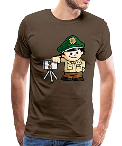 Mainzelmännchen Conni Als Polizist Männer Premium T-Shirt, XL, Edelbraun