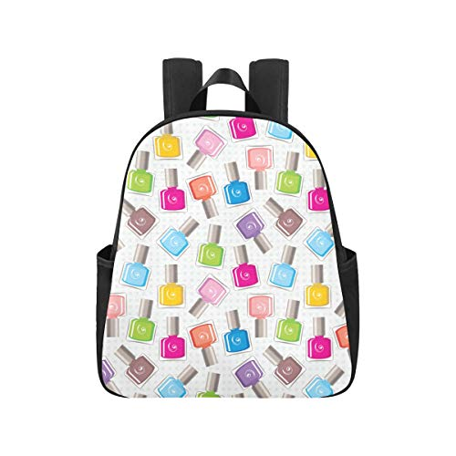 Colourful Nail Polish College Backpacks 12.40x5.12x14.17inch Backpack for School Multipurpose Casual Backpacking Business Travel School,Office