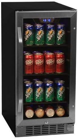 EdgeStar 80 Can Built-In Beverage Stainless High quality Regular dealer new Steel Black Cooler -