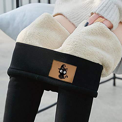 accessori capelli bambina,Leggings per pantaloni in cashmere di velluto spesso stretto inverno caldo con segno di gatto da donna