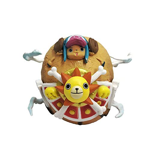 KPSHY One Piece Anime Wanli Sunshine Chopper Barco Pirata Figura Decoración de la muñeca Versión Premium Estatua Muñeca Escultura Juguete Decoración Modelo Muñeca Altura 5.5cm