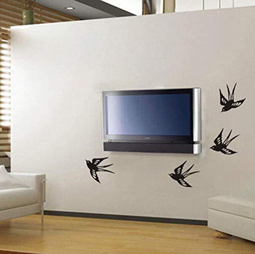 Schwalben Vinyl Wandtattoo Aufkleber Dekoratives Muster Wohnkultur Jungen Zimmer Kunst Wandbild Wallpaper56X11Cm