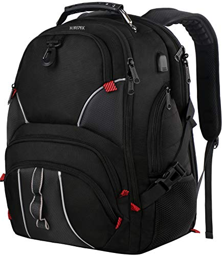 YOREPEK Large Bookbag,17 Inch Laptop Backpack with Anti...