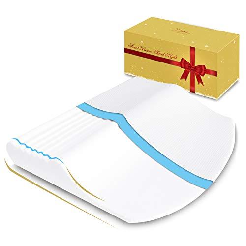 Dore 枕 ピロー 低反発枕 肩まで枕 大きい枕 ギフトパッケージ 幅広くサポート枕 ギフト 家族プレゼント ゆったりサイズ 72×68cm シングル ホワイト