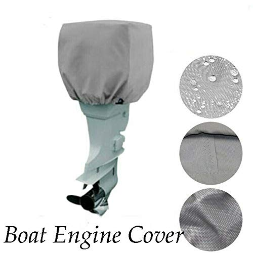 MACHSWON Boat Motor Outboard Engine Cover, Yacht Engine Protector Cover, Waterproof and Suntan Hood Cover for Boat, Ship, Yacht, Dinghy, Marine -  H845296F