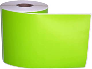 """4 Rolls; Green 4"""" x 6"""" Direct Thermal 250 Color Labels per Roll Compatible with Zebra/Eltron- 4x6 Labels (4"""" x 6"""") - BPA Free!"""