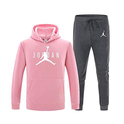 Juego de 2021 de jersey de baloncesto, juego de chándal 23 # Jordan Sportswear sudadera con capucha pantalones de entrenamiento de fanáticos, cálido y cómodo 4-M