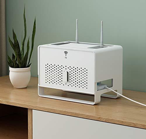 UNCTAD Creativa WiFi Caja de Almacenamiento Fabricado en ABS Partición en Capas - Resistente Al Agua y Al Polvo - 31.4×21×23cm WiFi Caja de Almacenamiento de Router