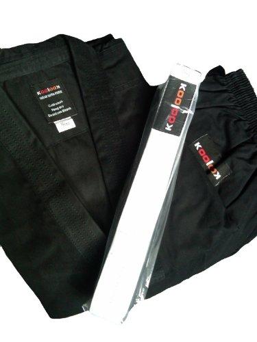 KOOLOOK Kimono da Karate nero, Karategi 9 once per Intermedi e Principianti II-150cm
