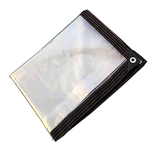 JLVAWIN Cubierta de lona impermeable, película de ensilaje, lona de jardín, puede soportar la influencia del clima, impermeable, lavable y duradero-4 x 4 m