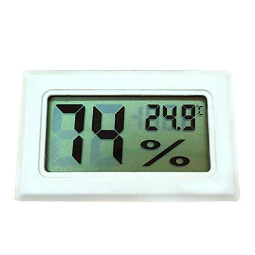 Hygrometer-Thermometer, hohe Präzision, leicht, langlebig, Innentemperatur, Luftfeuchtigkeit, Digital-Sensor mit LCD-Display für den Innenbereich zu Hause, Labor, Bibliothek, etc. Free Size weiß