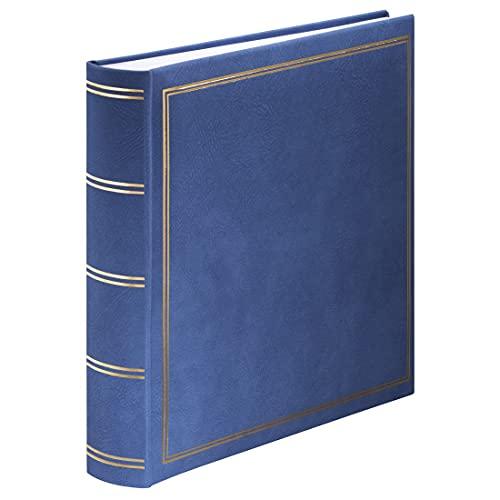 Hama Jumbo Fotoalbum London 30x30 cm (Fotobuch mit 80 weißen Seiten, Album für 320 Fotos zum Selbstgestalten und Einkleben) blau