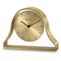 Bulova B1863 Bonita Tabletop Clock, Brushed Brass