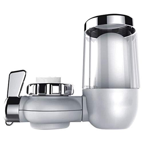 Sistema de filtración de grifo de agua de larga duración, filtro de agua de grifo, elimina plomo, flúor y cloro - Se ajusta a la norma fregadero cocina (Color : Silver)