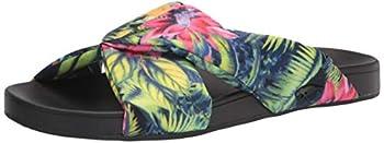 Rocket Dog Women s EDO EPPS Tropical Print Slide Sandal Black 9