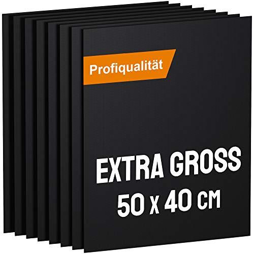 KOMOTO® BBQ Grillmatte (8er Set) 50x40 cm I Extra Dick I Für Gasgrill und Holzkohle