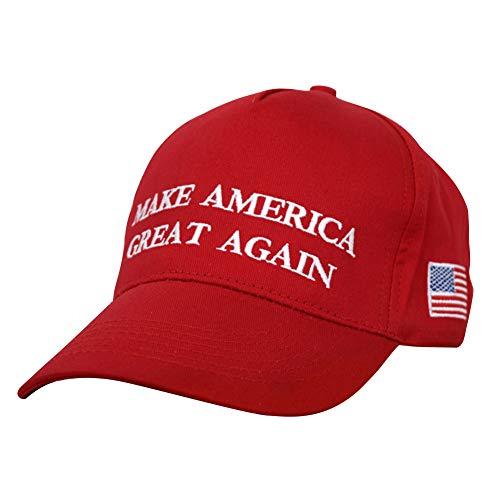 Urhause America Flag Baseball Cap Verstellbarer MAGA Trump Hut Donald Trump Cap, Halten Sie American Great Trump 2020 Hut Mit USA Flagge Bestickte Hüte Für Männer Frauen