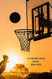 ACADEMIC DESK DIARY 2020-2021: A5 Diary Starts 1 August 2020 Until 31 July 2021. Sports.Paperback With Soft Water Repellin...
