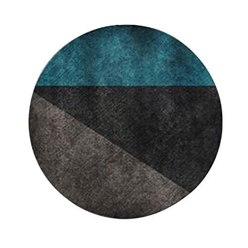 GCP Tappeto Antiscivolo Antiscivolo Resistente all'Acqua Modello Irregolare Sedia sospesa Rotonda Camera da Letto Tappeti semplici Moderni per la casa (Colore: 001, Dimensioni: 80x80cm)